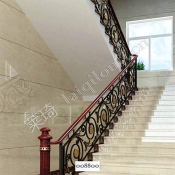 手工锻造铁艺楼梯008800的图片