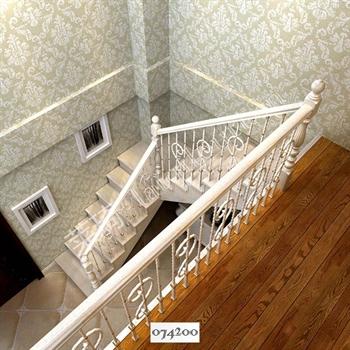 手工锻造铁艺楼梯074200的图片