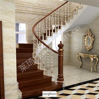 手工锻造铁艺楼梯007600的图片