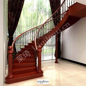手工锻造铁艺楼梯035800的图片