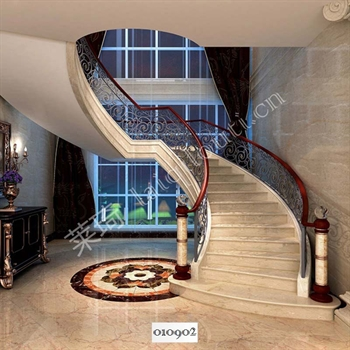 手工锻造铁艺楼梯010902的图片