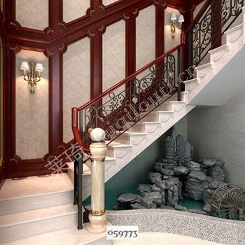 手工锻造铁艺楼梯059773的图片