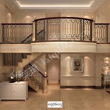 手工锻造铁艺楼梯072603的图片