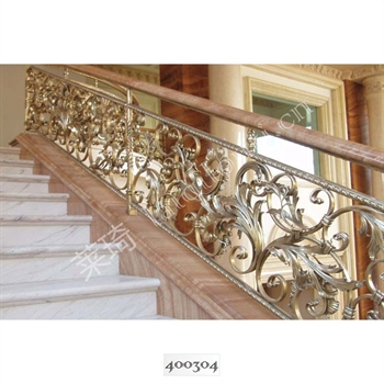 手工锻造铁艺楼梯400304的图片