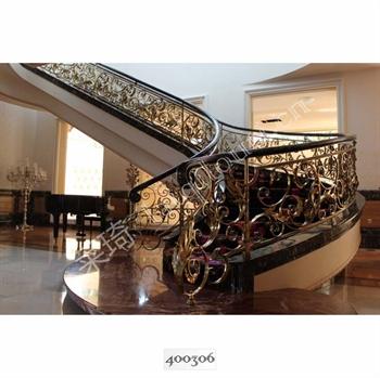 手工锻造铁艺楼梯400306的图片