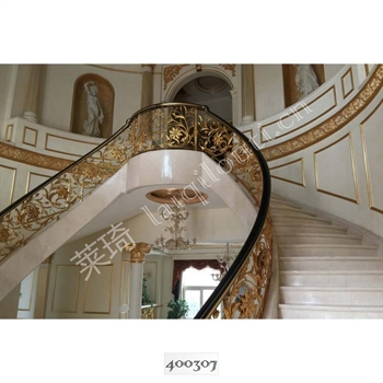手工锻造铁艺楼梯400307的图片