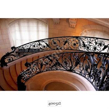 手工锻造铁艺楼梯400312的图片