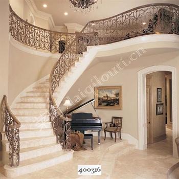 手工锻造铁艺楼梯400316的图片