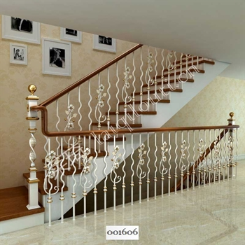 手工锻造铁艺楼梯001606的图片