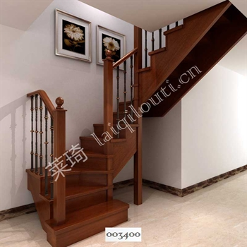 手工锻造铁艺楼梯003400的图片