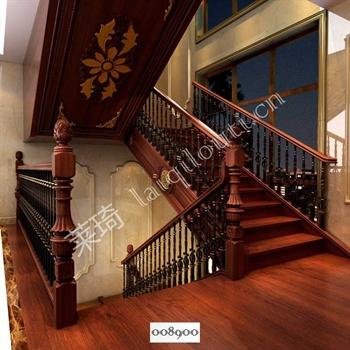 手工锻造铁艺楼梯008900的图片