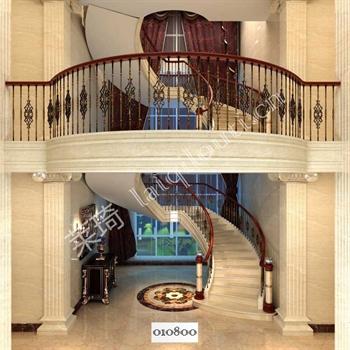 手工锻造铁艺楼梯010800的图片