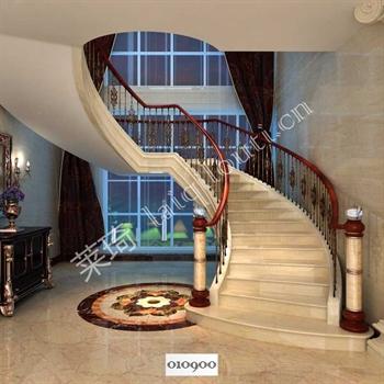 手工锻造铁艺楼梯010900的图片
