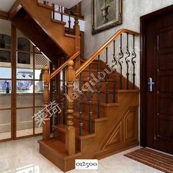 手工锻造铁艺楼梯012500的图片