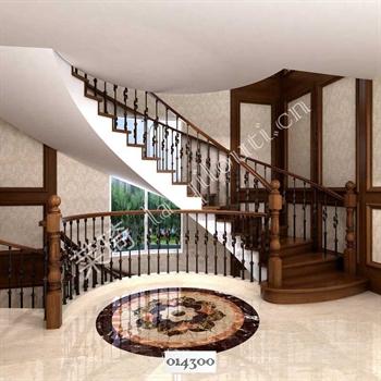 手工锻造铁艺楼梯014300的图片