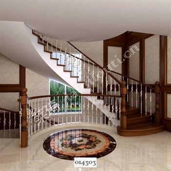 手工锻造铁艺楼梯014303的图片