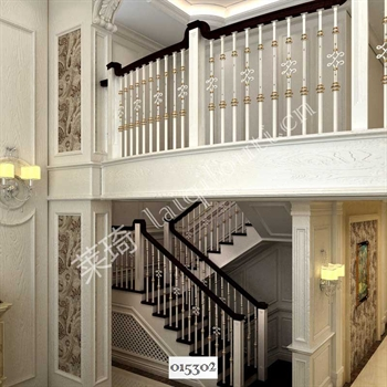 手工锻造铁艺楼梯015302的图片