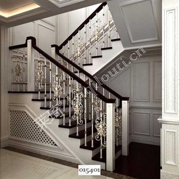 手工锻造铁艺楼梯015401的图片