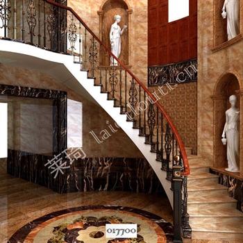 手工锻造铁艺楼梯017700的图片