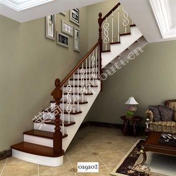 手工锻造铁艺楼梯019102的图片