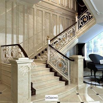 手工锻造铁艺楼梯021100的图片