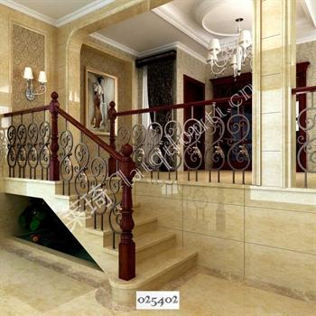 手工锻造铁艺楼梯025402的图片