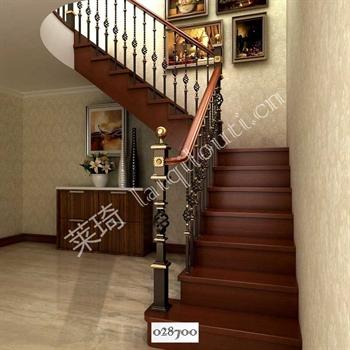 手工锻造铁艺楼梯028700的图片