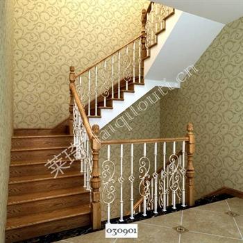 手工锻造铁艺楼梯030901的图片