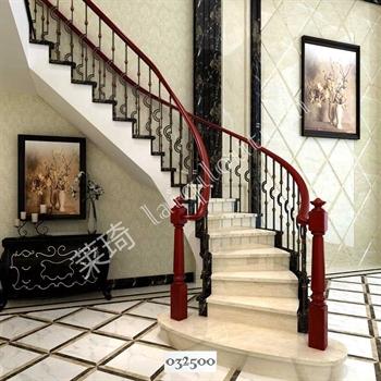 手工锻造铁艺楼梯032500的图片