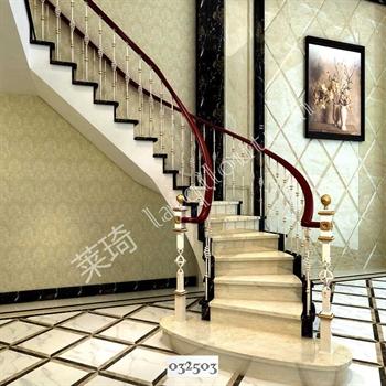 手工锻造铁艺楼梯032503的图片