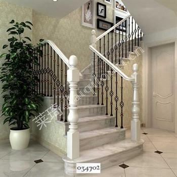 手工锻造铁艺楼梯034702的图片