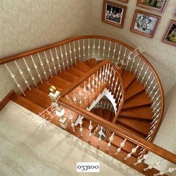 手工锻造铁艺楼梯037100的图片