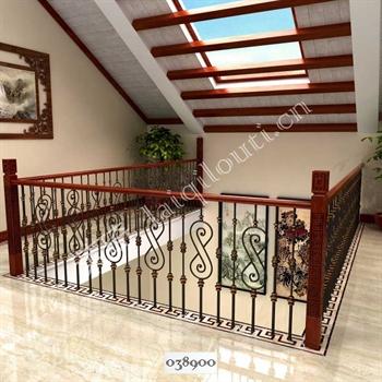 手工锻造铁艺楼梯038900的图片