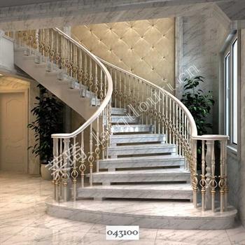 手工锻造铁艺楼梯043100的图片