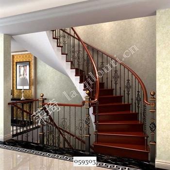 手工锻造铁艺楼梯059303的图片