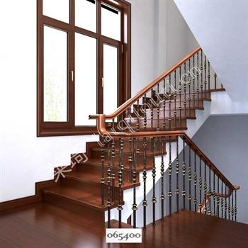 手工锻造铁艺楼梯065400的图片