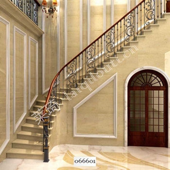 手工锻造铁艺楼梯066601的图片