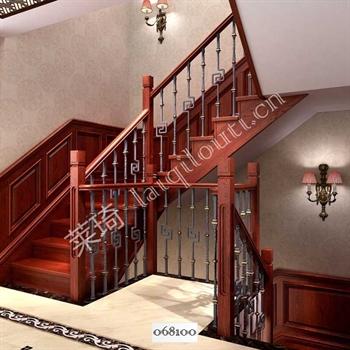 手工锻造铁艺楼梯068100的图片