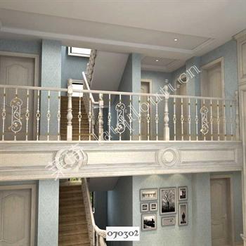 手工锻造铁艺楼梯070302的图片