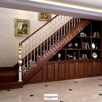 手工锻造铁艺楼梯074100的图片