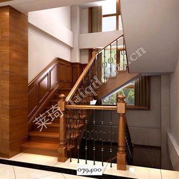 手工锻造铁艺楼梯079400的图片