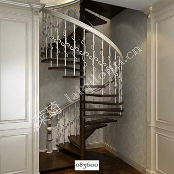 手工锻造铁艺楼梯083600的图片