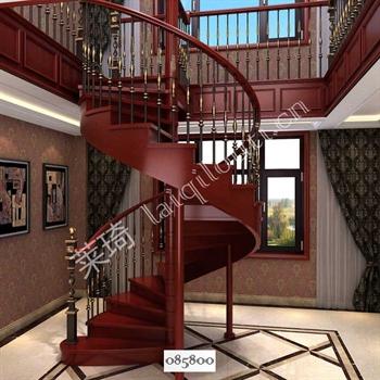 手工锻造铁艺楼梯085800的图片