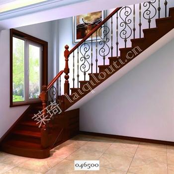 手工锻造铁艺楼梯046500的图片