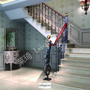 手工锻造铁艺楼梯069100的图片