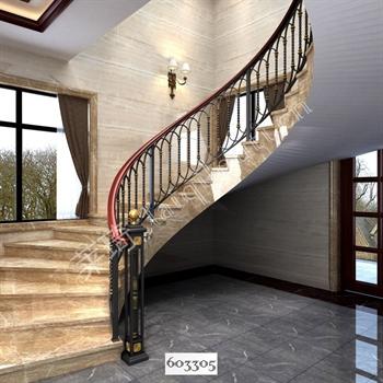 手工锻造铁艺楼梯603305的图片