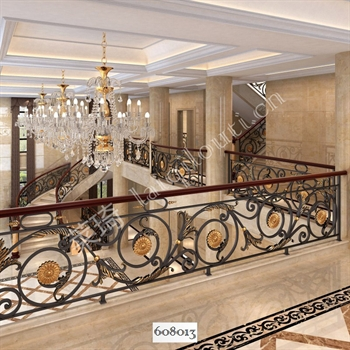手工锻造铁艺楼梯608013的图片
