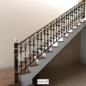 手工锻造铁艺楼梯100056的图片
