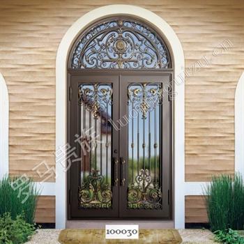 手工锻造别墅入户门100030的图片