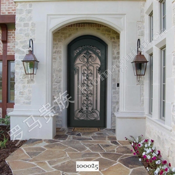 手工锻造别墅入户门100025的图片